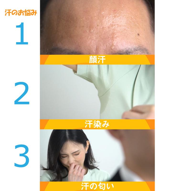 汗のお悩みTOP3